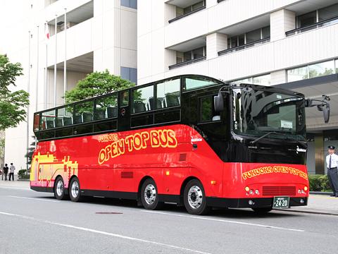 西日本鉄道「福岡オープントップバス」 赤塗装 0010