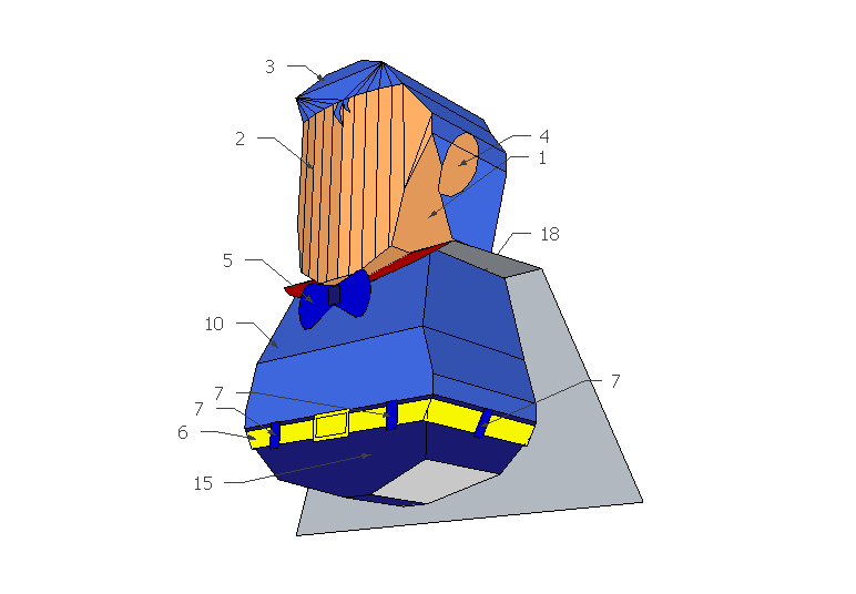 Suppa Man Papercraft Assembly Instructions
