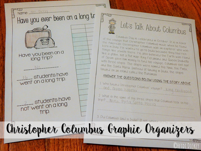 Columbus Graphic Organizers