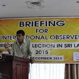 Sri Lanka EOM 2015 – Observers Briefing