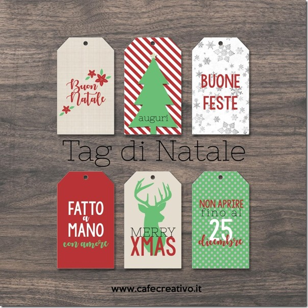 Etichette per regali di Natale stampabili - fai-da-te