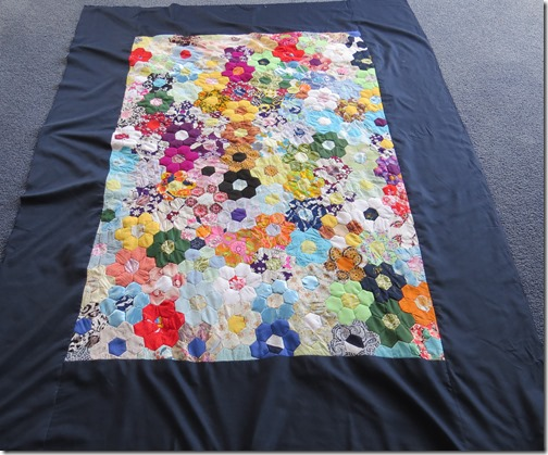 Angela's quilt before quilting