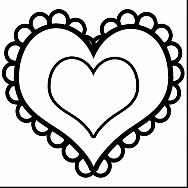 Superb Valentine Heart Clip Art Black And White With Coloring Pages Of  Hearts And Coloring Pages