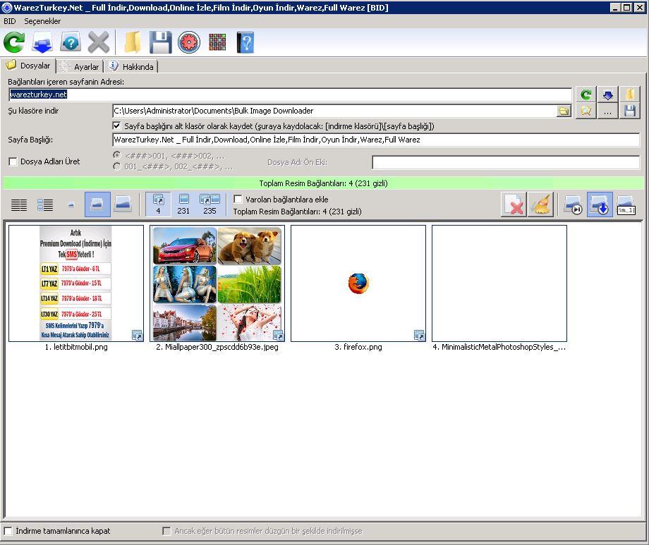 Bulk Image Downloader 5.37.0.0 Türkçe
