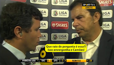 "Manuel Machado ""Trolla"" Jornalista Da Sport TV Em Directo Na Flash Interview Do Nacional Vs Sporting"