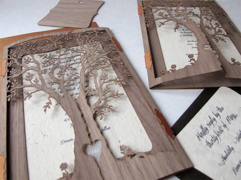 Laser Cut Wedding Invitations 73 Cute Custom wedding invitations laser