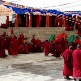 Massive religious gathering and enthronement of Dalai Lama's portrait in Lithang, Tibet. - l10.JPG
