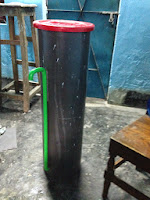The first custom-designed arsenic water filter built from my manufacturing shop in Bangladesh.