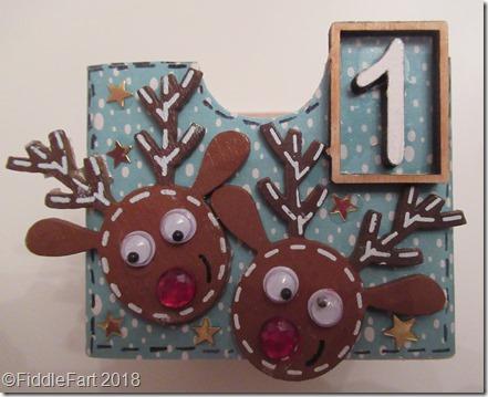 reindeer advent drawer