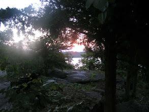 Photo: A peak at early sunrise