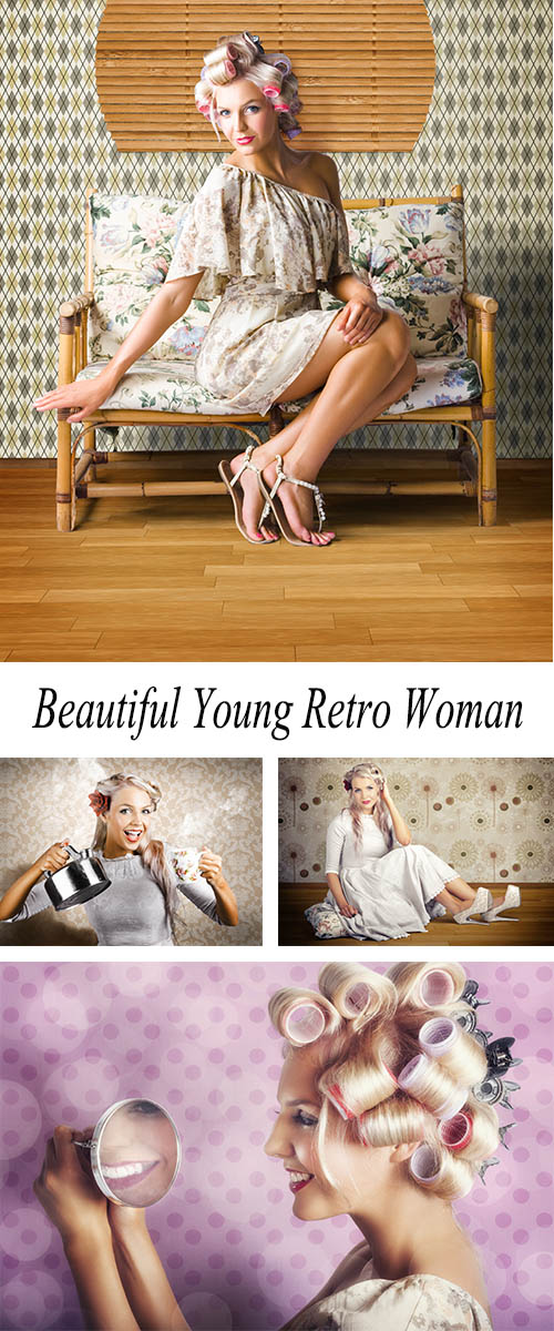 Stock Photo: Beautiful Young Retro Woman 1