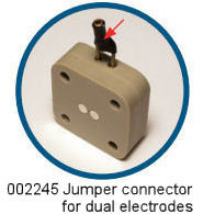 Jumper connector for dual electrodes