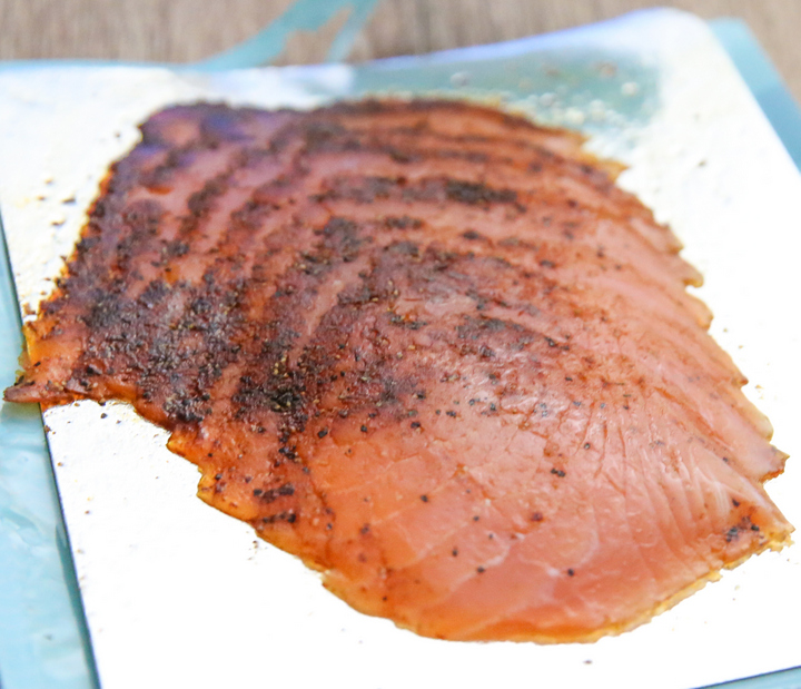 close-up photo of Pastrami Style Salmon