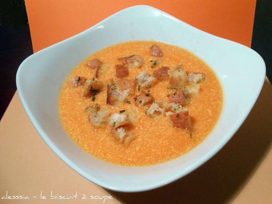 Crema di zucca e ricotta con crostini gustosi