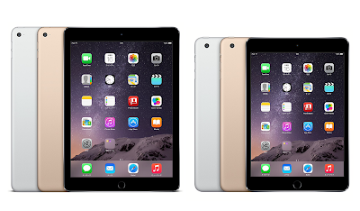 Apple iPad Air 2、iPad mini 3