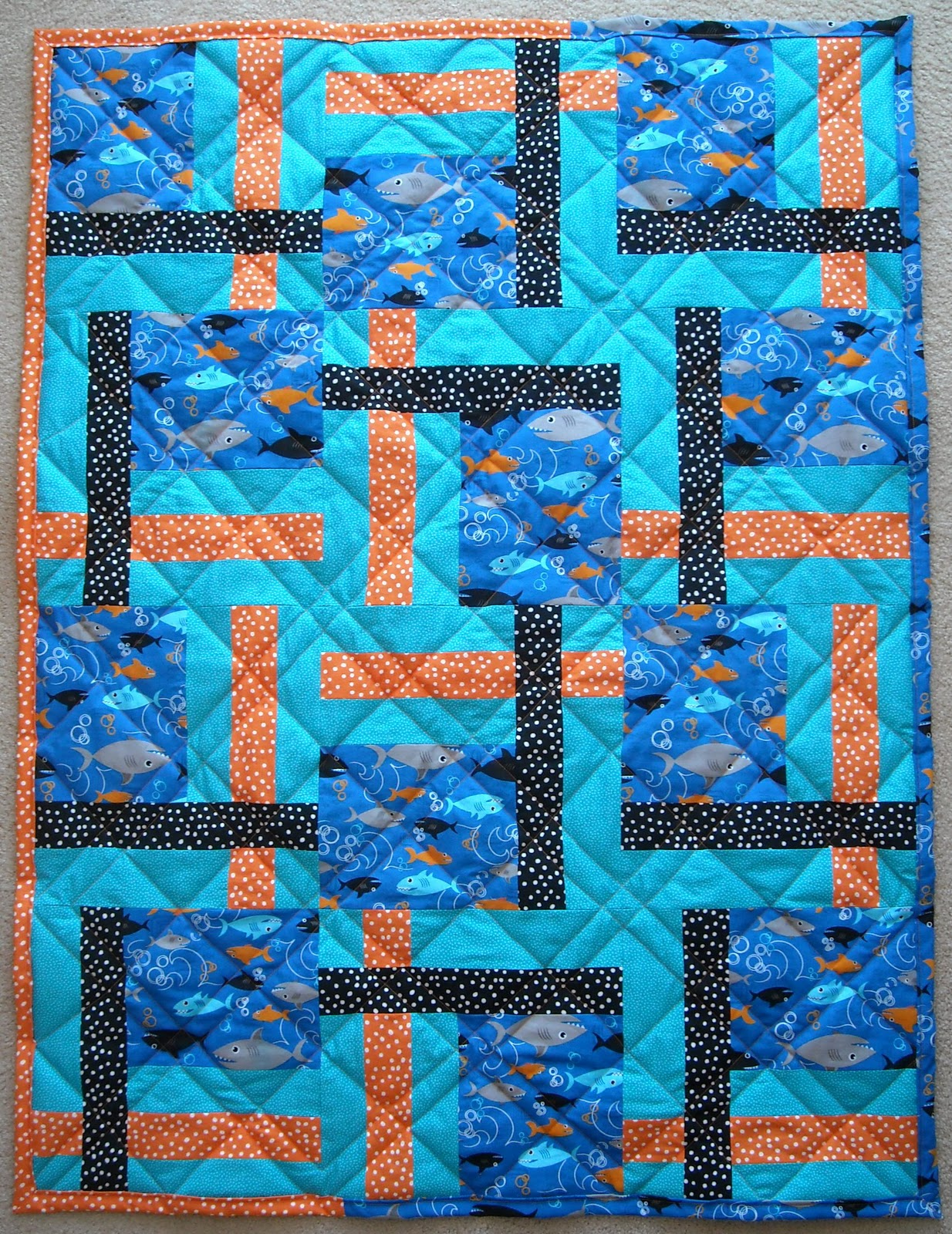 Crafter Without A Cat Shark Quilt