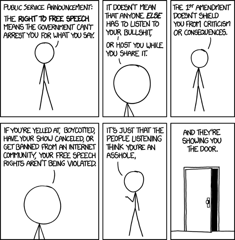 Freedom of Speech by Randall Munroe