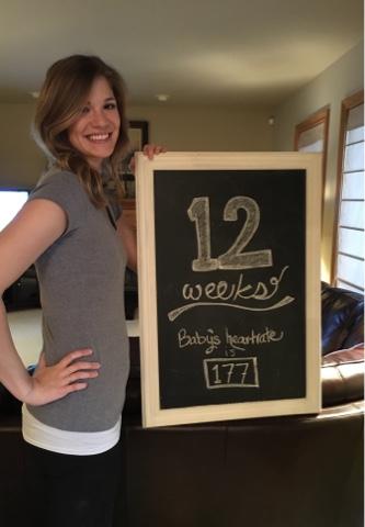 12 week pregnancy chalkboard update 12 week bump bumpdate