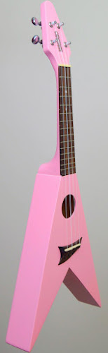 Gibson pink flying vee ukulele