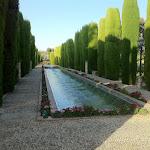 Alkazar w Kordobie o świcie, ogrody