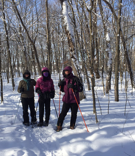 Members of the North Star Ski Touring Club out snowshoeing