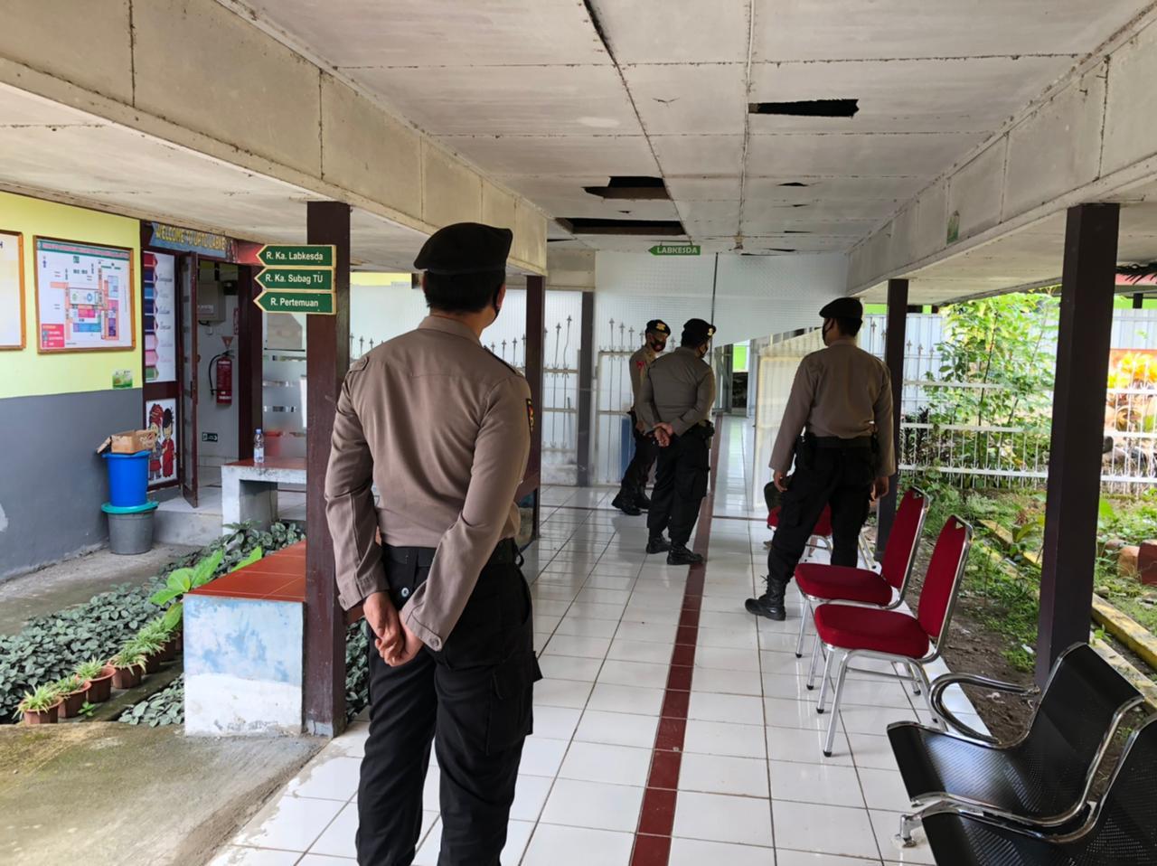Polisi Satuan Sabhara Polres Soppeng Siaga Patroli di Sejumlah Obyek Vital