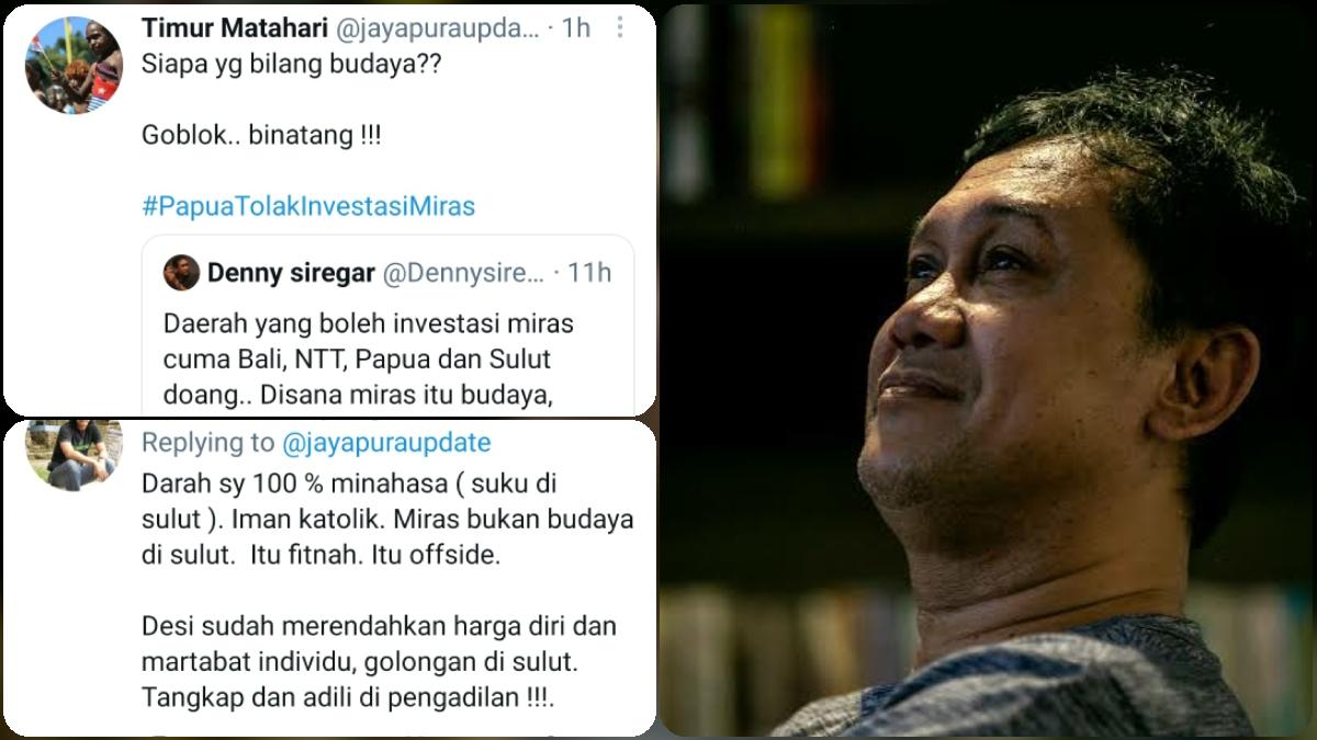 Denny Siregar Ditampol Netizen Papua dan Minahasa: Siapa Bilang Miras Budaya? B*natang! Tangkap!