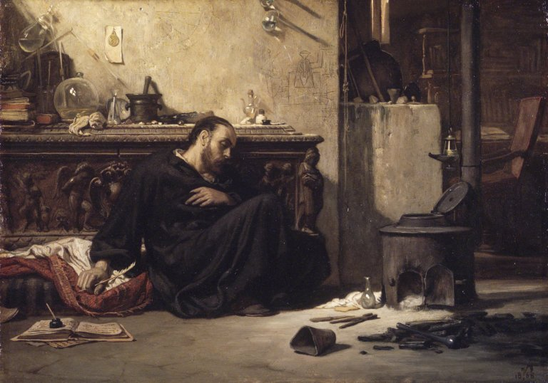 Elihu Vedder - The Dead Alchemist