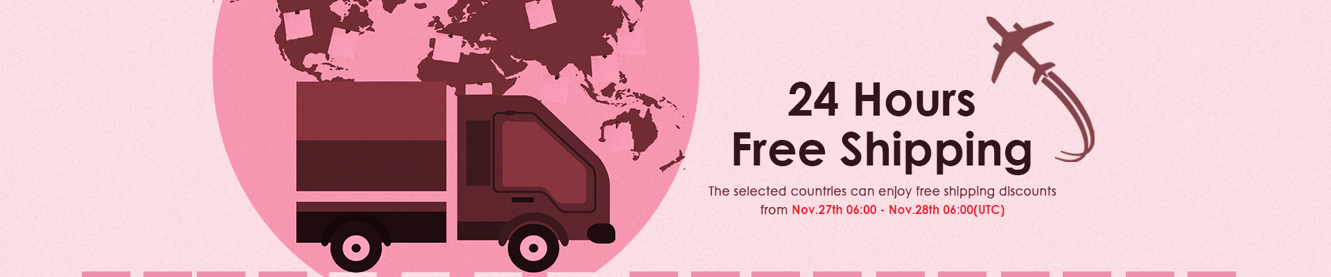 24 hours free shipping