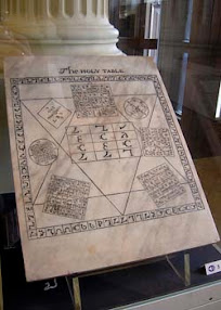 Cover of John Dee's Book The Holy Table Engraving from Casaubon True and Faithful Relation