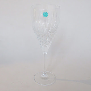 Tiffany & Co. Plaid Crystal Wine Glass