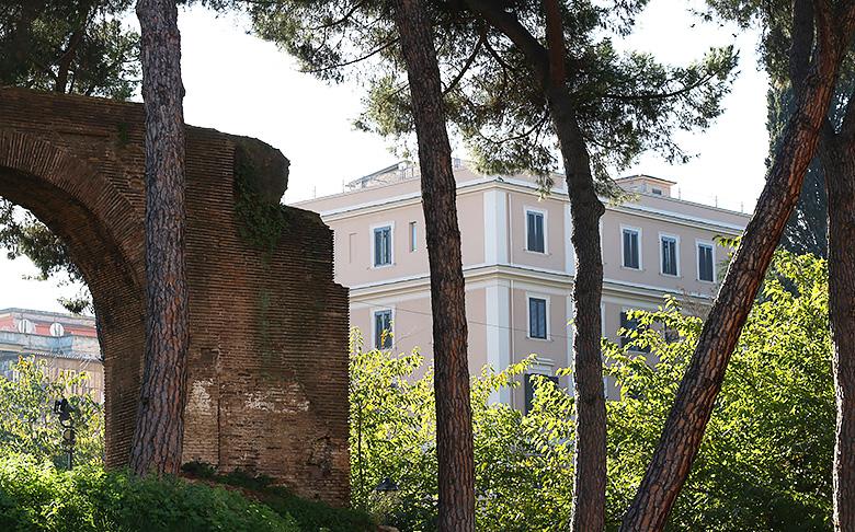 Le paysage romain.