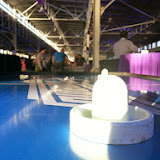 Air hockey at the Build after party. They also had shuffleboard, arcade games from the 80s/90s, table hockey, and more.