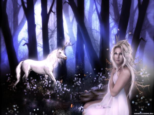 Magical Unicorn And A Girl, Spirit Companion 4