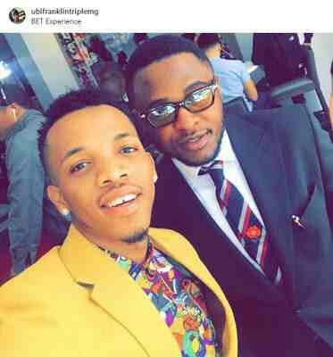 Tekno Takes Selfie With Ubi Franklin At BET Experience