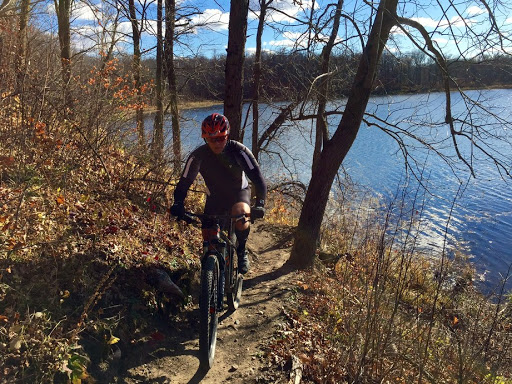 Great afternoon for a late season mountain bike ride. Singletrack near Twin Lakes