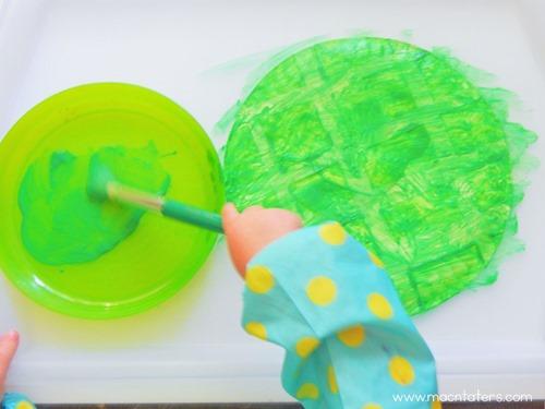 Resist Art Paper Plate Turtle Craft