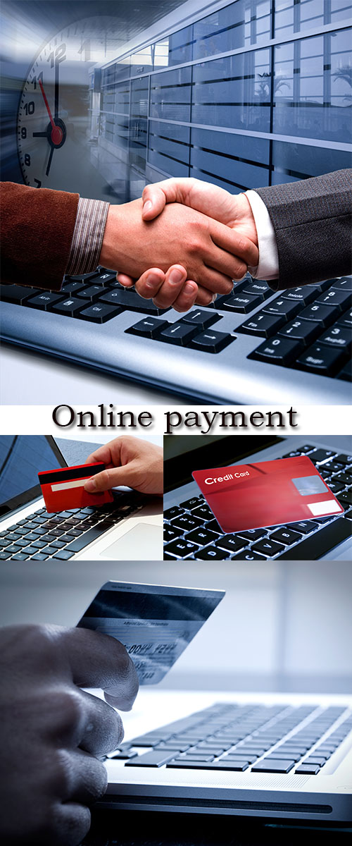 Stock Photo: Online payment