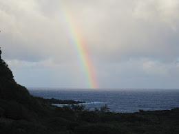 One last rainbow before the sun sets.