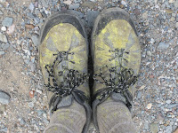 P's feet at the end of the second day... ©http://backpackthesierra.com