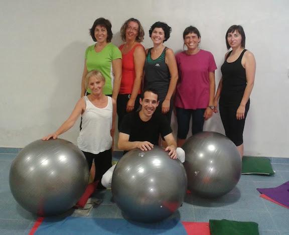 Grupo de gimnasia terapéutica
