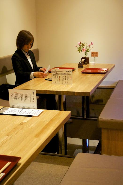 会席コースのテーブル席