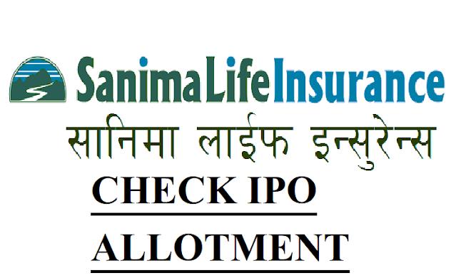 IPO Results of Sanima Life Insurance Company
