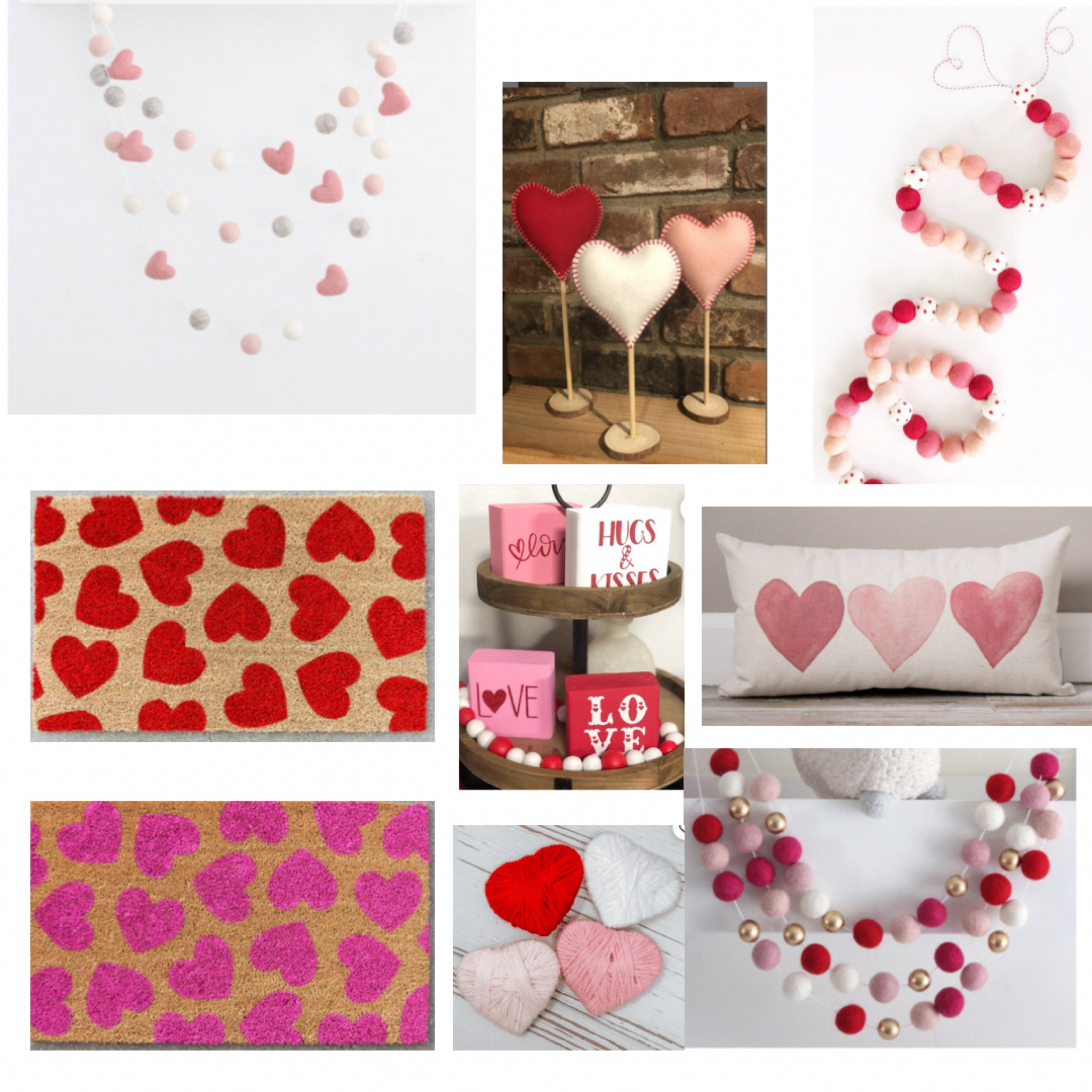 Valentine's Day Decor - Something Delightful Blog #ValentinesDay #ValentineDecor #HomeDecor