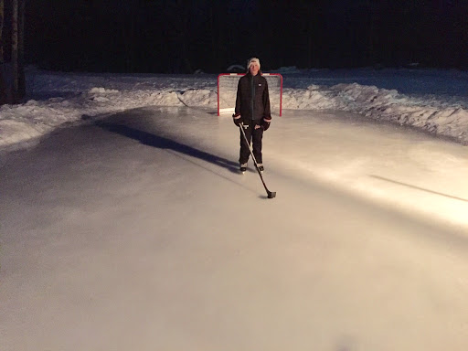Early morning skate Friday morning. Soft ice with a few puddles but once cools down should be good to go again.