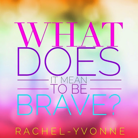 The Word Bravery Colorful
