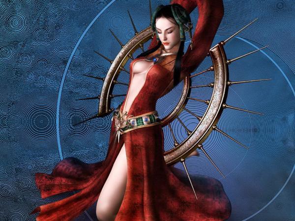 Red Sexy Fantasy Girl, Magic Beauties 1