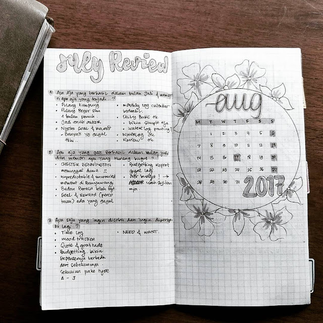 setup bujo august 2017 ideas