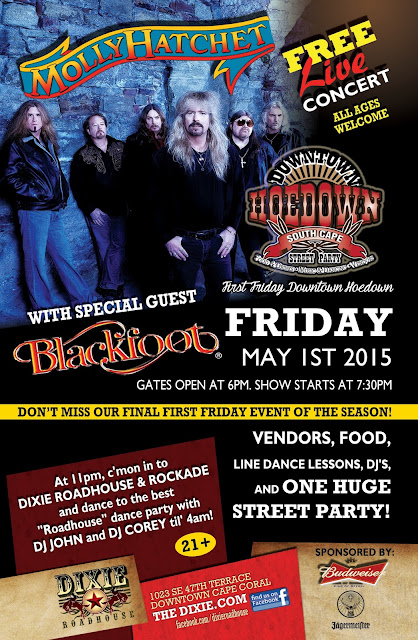 DRH Molly Hatchet 11x17 Poster APR2015