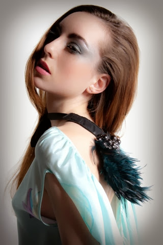 Fashion photography close up romantic feathers